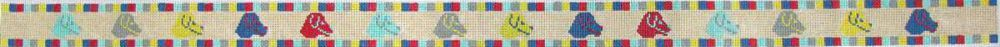 Rainbow Dog Head Dog Collar/Child's Belt - 18 Mesh