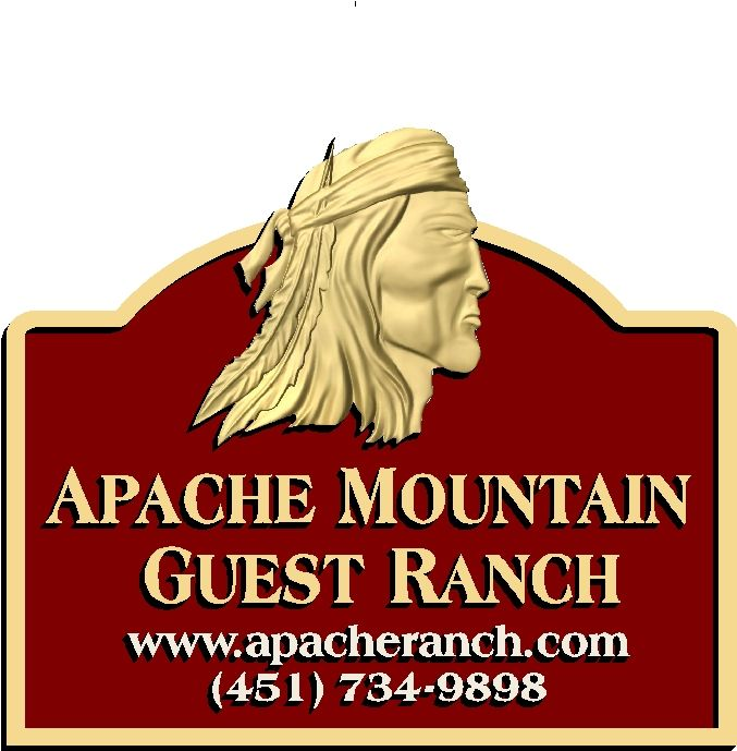 O24352 - Apache Head Ranch  Sign