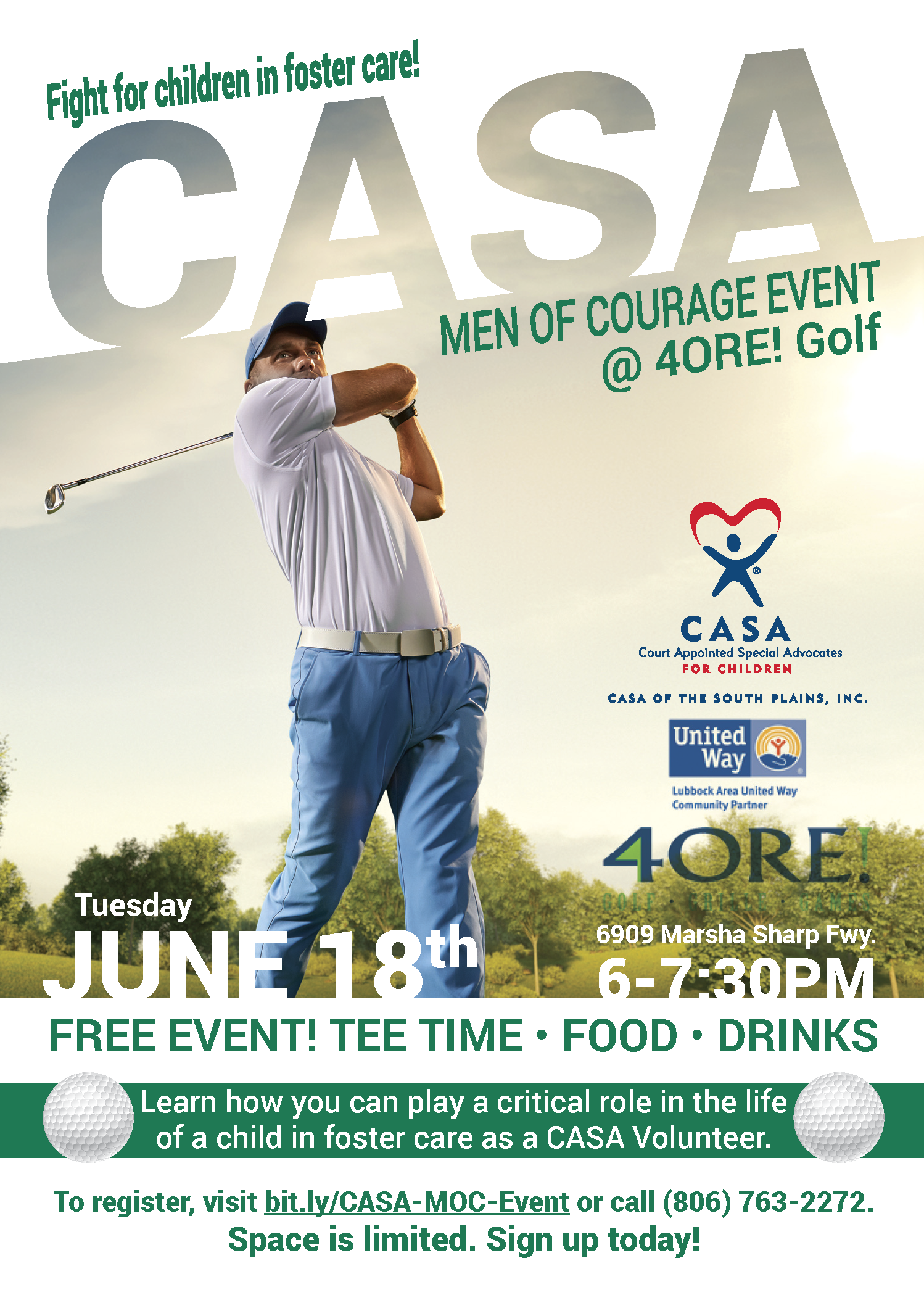 CASA Men of Courage Event at 4ORE! Golf