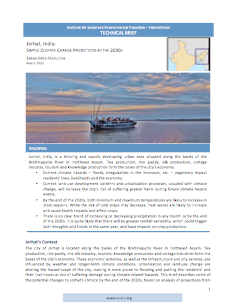 Jorhat: Simple Climate Change Projections by the 2030s (Technical Brief)
