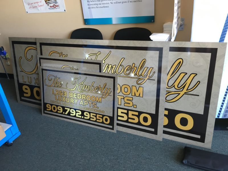 Custom Apartment Signs and Graphics Orange County