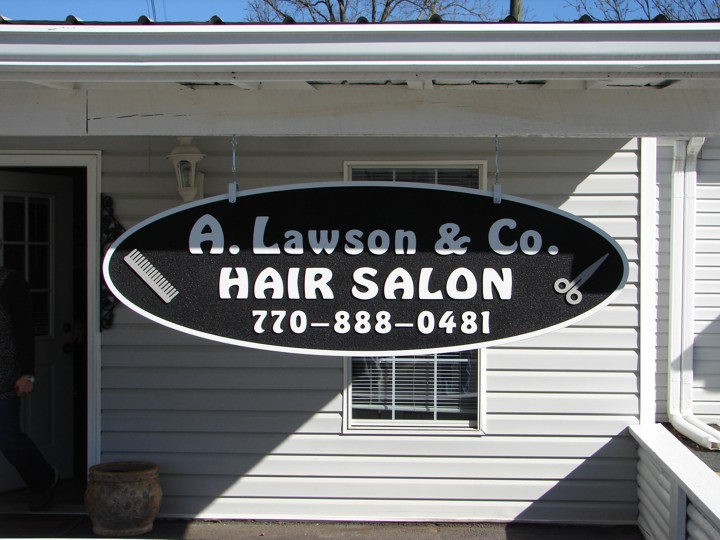 A. Lawson & Co. Sandblasted Sign