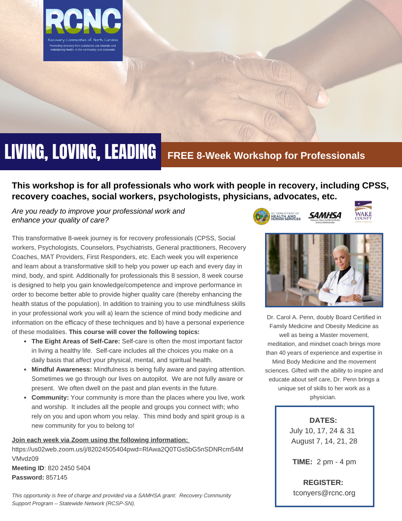Living, Loving, Leading: An 8 week Workshop for Professionals