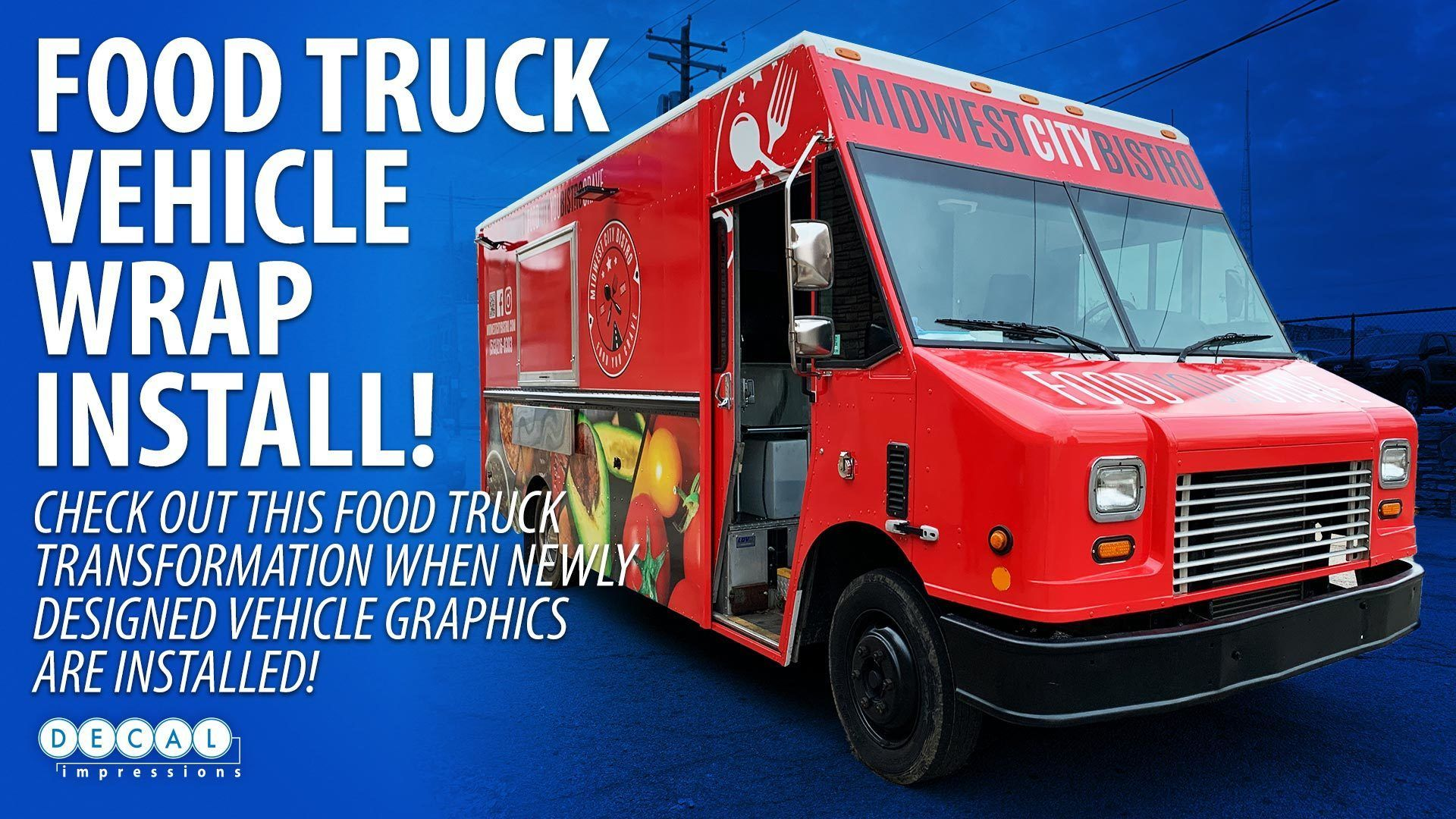 Midwest City Bistro Food Truck Vehicle Wrap