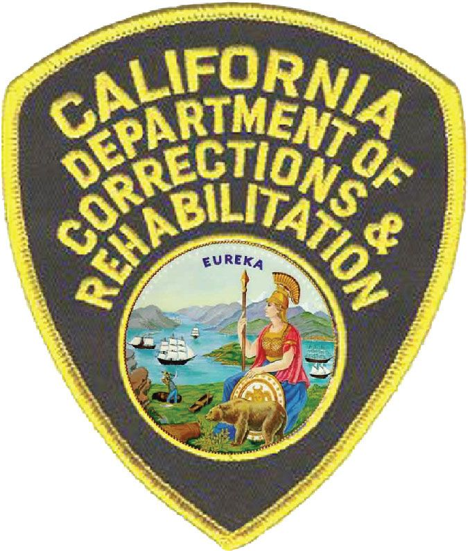 X33722 - 2.5-D Carved Wood Wall Plaque of California Correction Officer Shoulder Patch