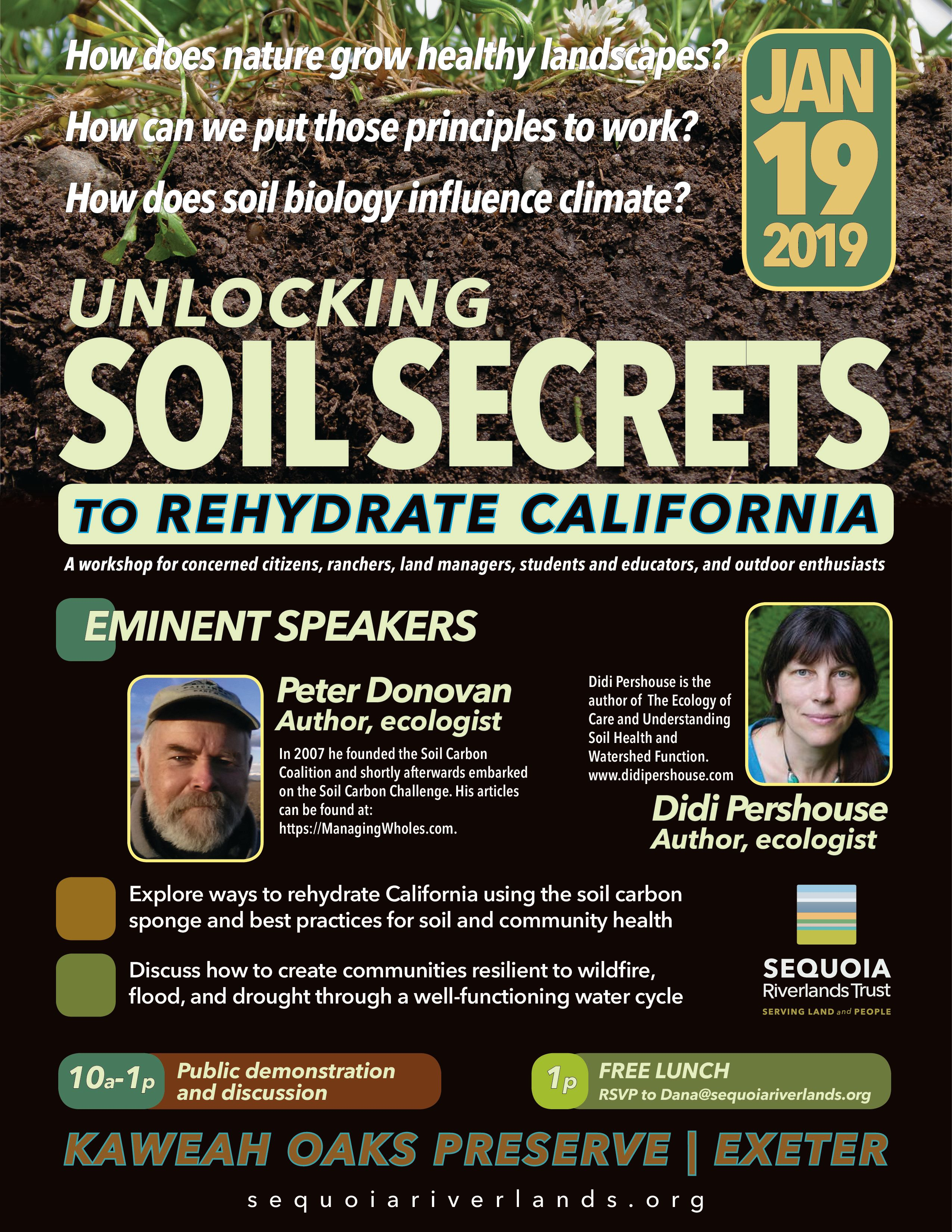 Jan. 19 at Kaweah Oaks: Unlocking Soil Secrets to Rehydrate California