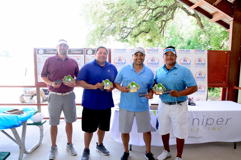 First Place Winners! Fred Salas, Alberto Sanmaniego, Alex Garza & Clay Thompson