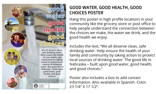 Good water. Good health. Good choices. (Poster)