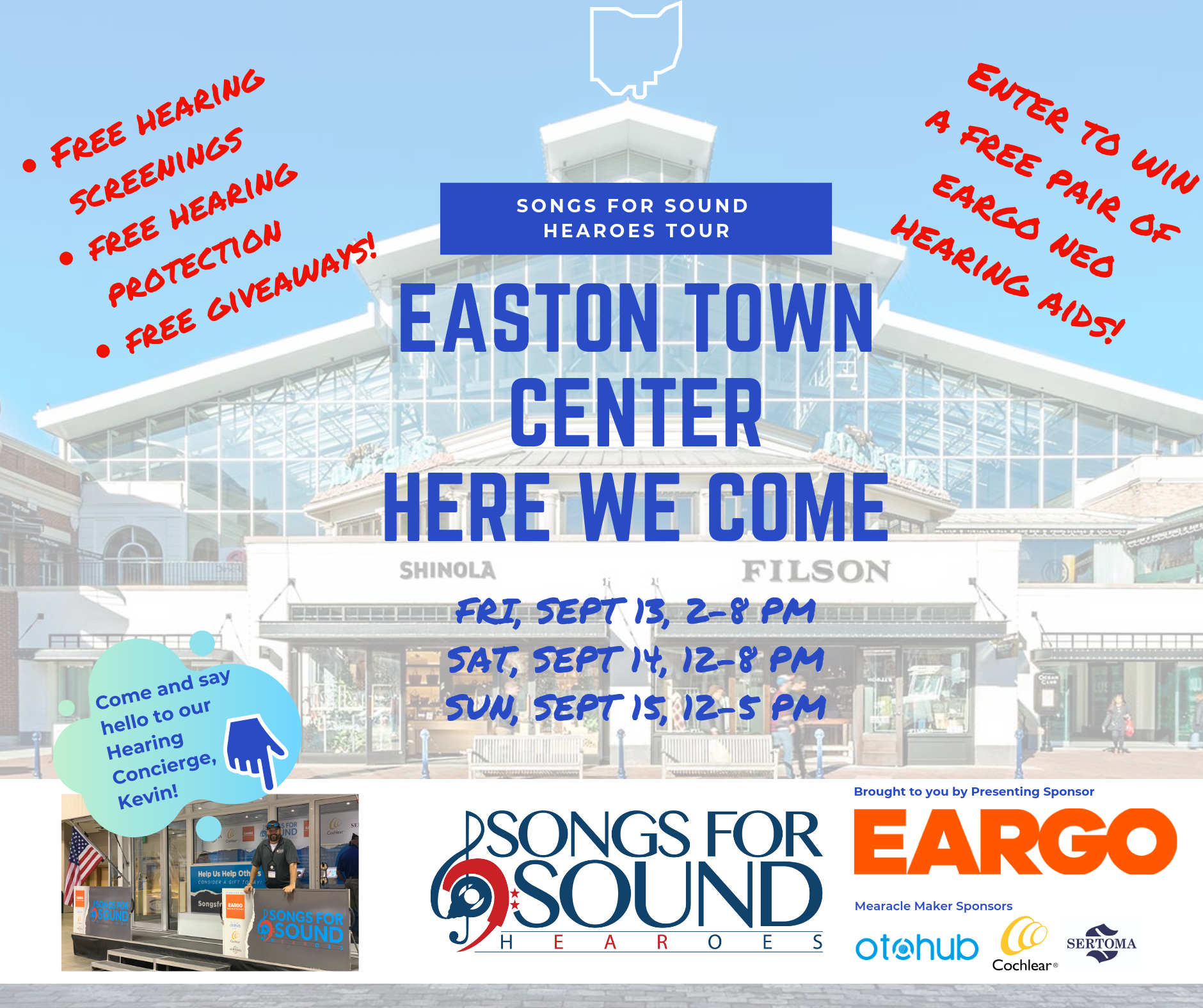Songs for Sound Partners with Easton Town Center to Give the Gift of Hearing