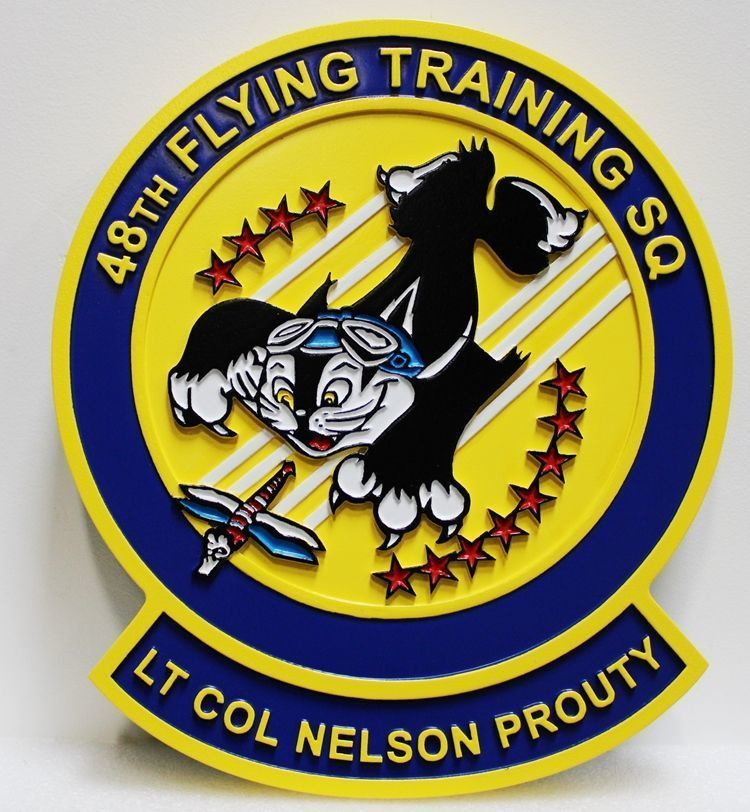 V31653 - Carved  2.5-D Plaquefor the 48th Flying Training Squadron