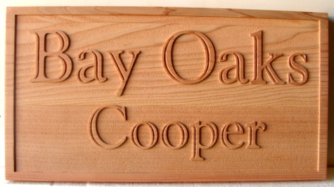 M22008 - Naturally Finished Carved Red Oak Property Name Sign