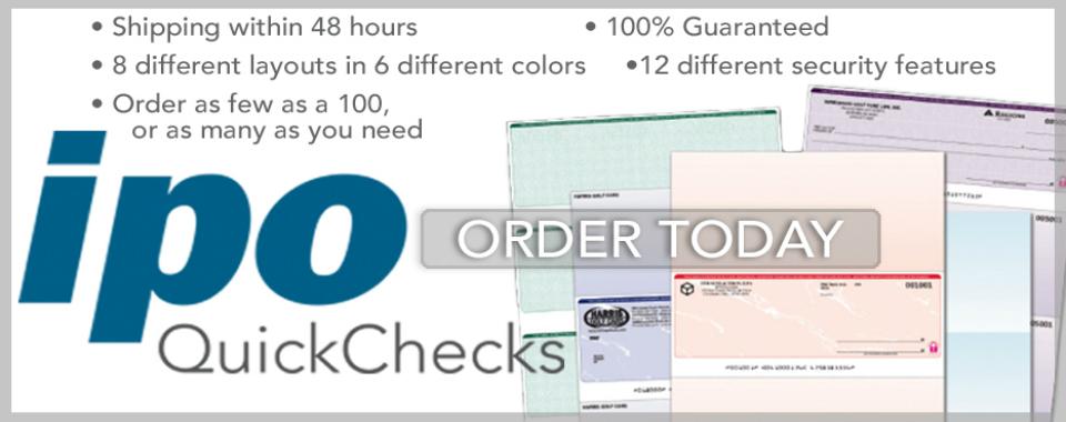 IPO QuickChecks Order Form