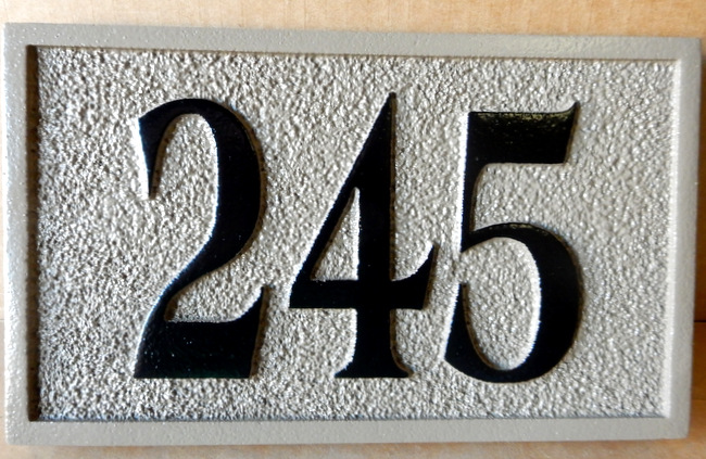 I18886 - Easy to Read House Address Number Sign, with Raised Texr and Border