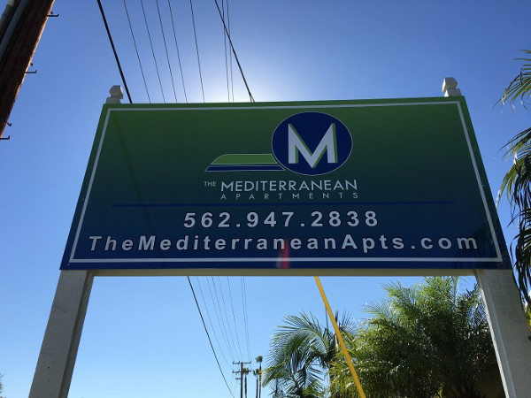 Exterior signs for apartment complexes in Orange County CA