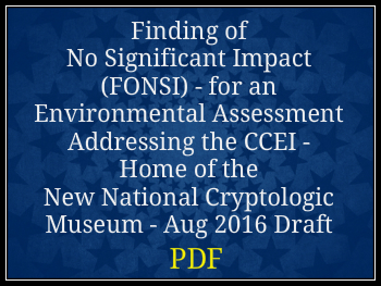 Finding of No Significant Impact (FONSI) August 2016 Draft