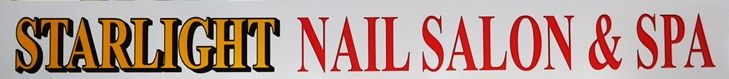 S28158- Carved  Sign for the Starlight Nail Salon & Spa , 2.5-D Artist-Painted