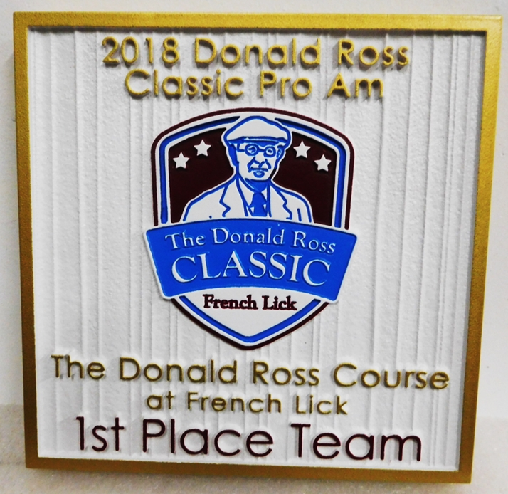 "E14702 - Carved and Sandblasted ""Donald Ross Classic Pro-Am""  Golf Tournament Award Wall Plaque"