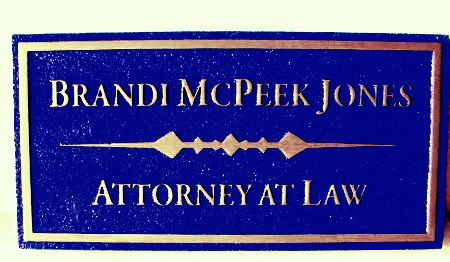 A10216 -  Sandblasted Door or Wall Attorney Sign