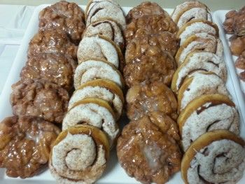 Fresh Apple Fritters & Cinnamon Rolls