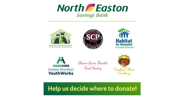 North Easton Savings Bank's Community Voting Campaign has chosen us as one of six non-profits to receive a portion of $5,000, based on daily votes received until September 30th!