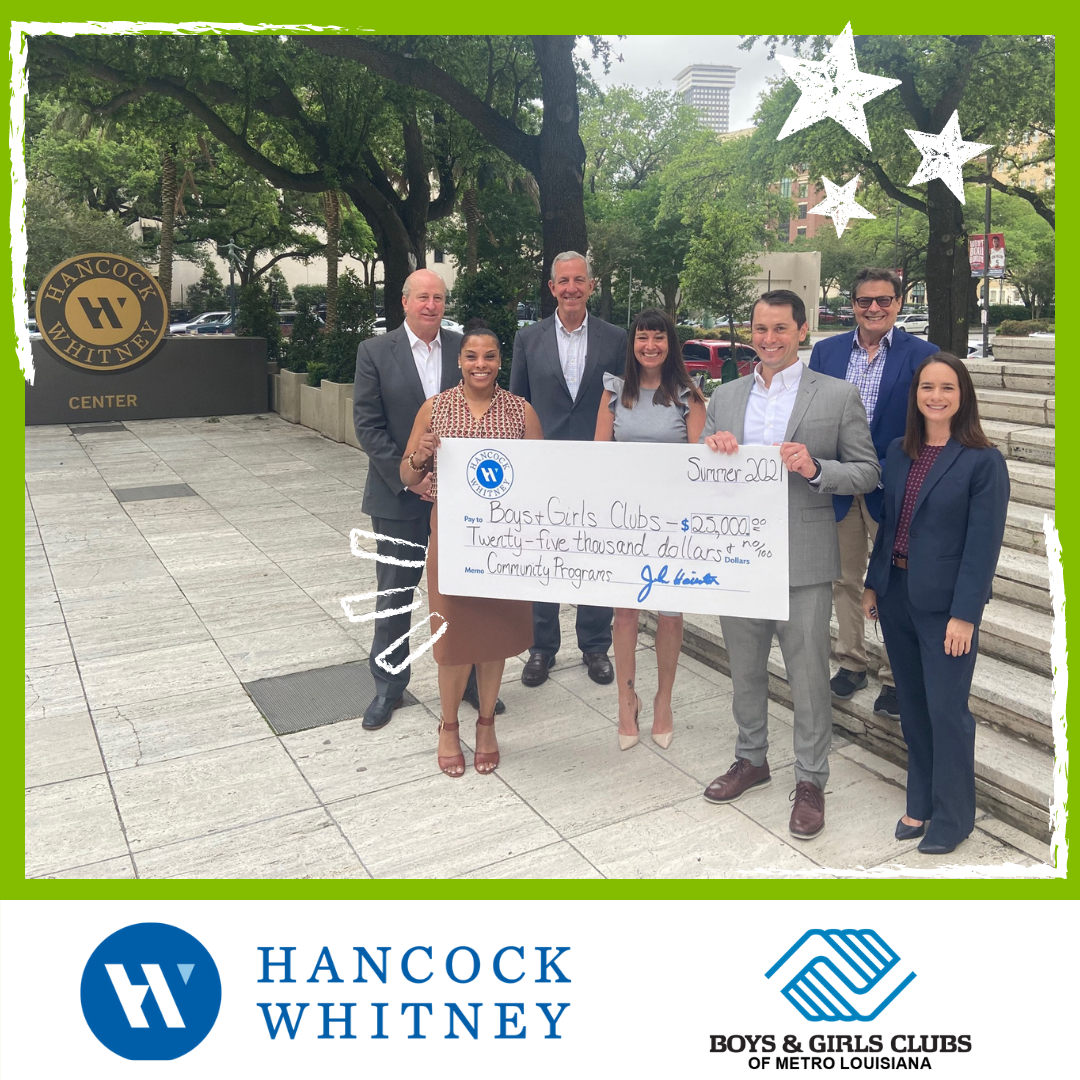 Hancock Whitney Bank Invests $25,000 in Great Futures for Local Youth