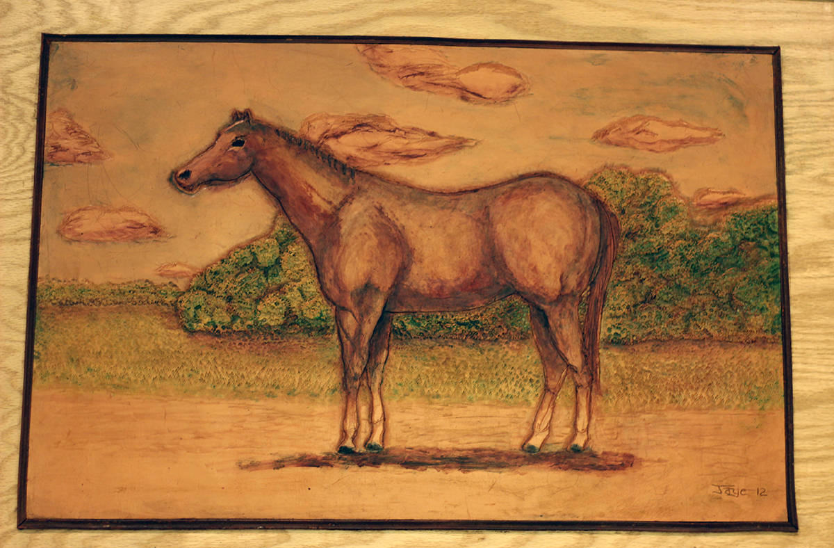 """Unknown Quarter Horse"" - Donated by artist Jaye Hayes"
