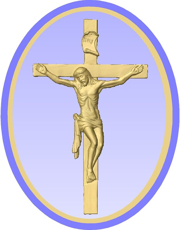 D13361 - Carved Gold-Leaf Gilded Crucifixion Wall Plaque