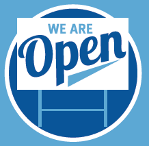 """10 - """"We Are Open"""" Yard Signs"""