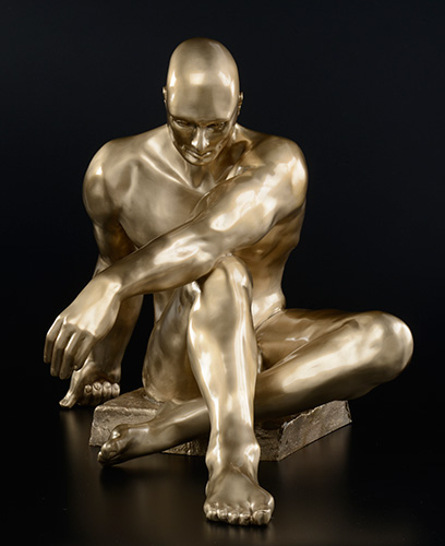 "Atlas, cast bronze, 36""H x 24""W x 24""D"