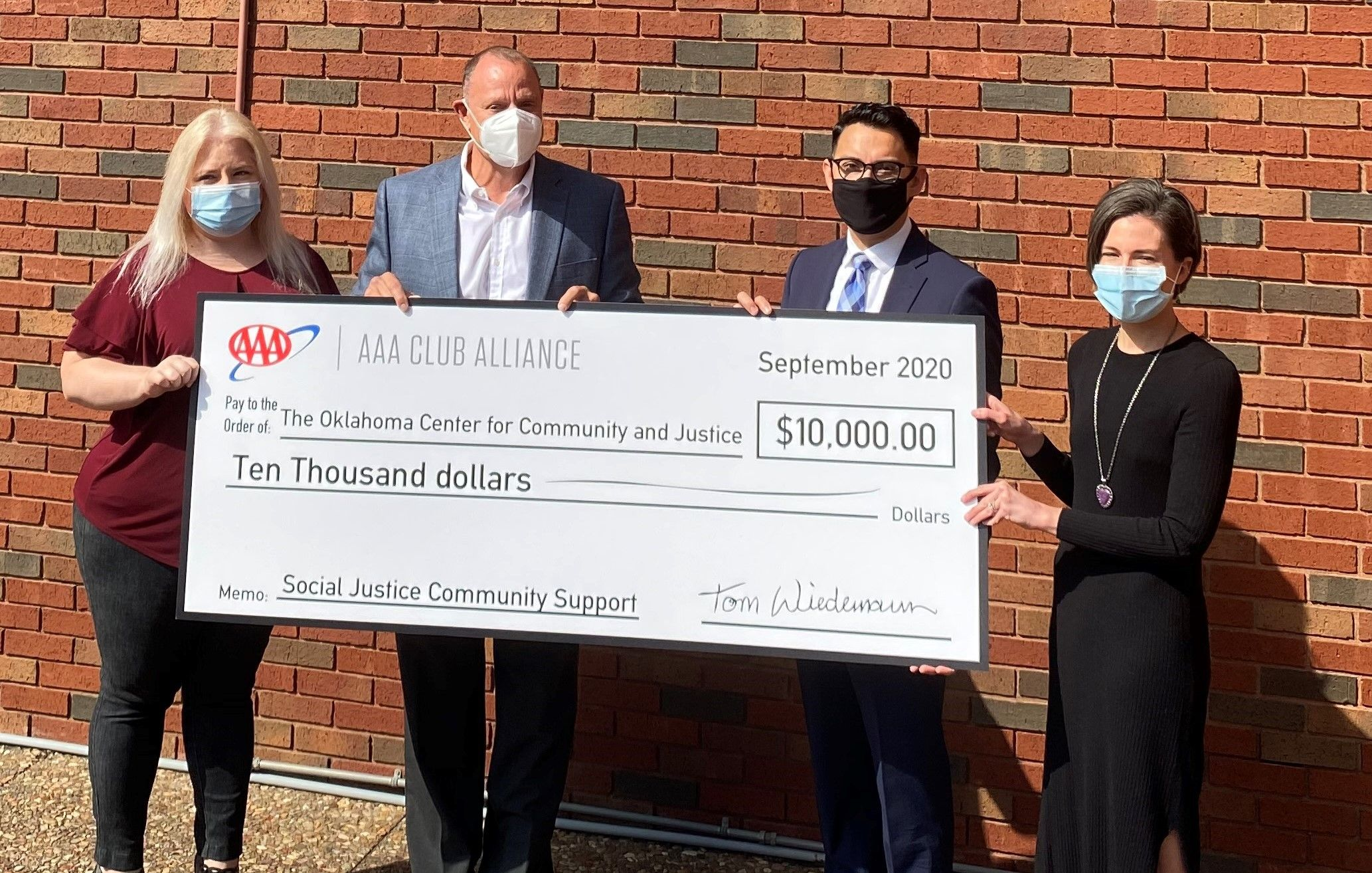 AAA Associates Select Oklahoma Center for Community and Justice for Social Justice Support