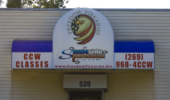 Full color backlit printed awning