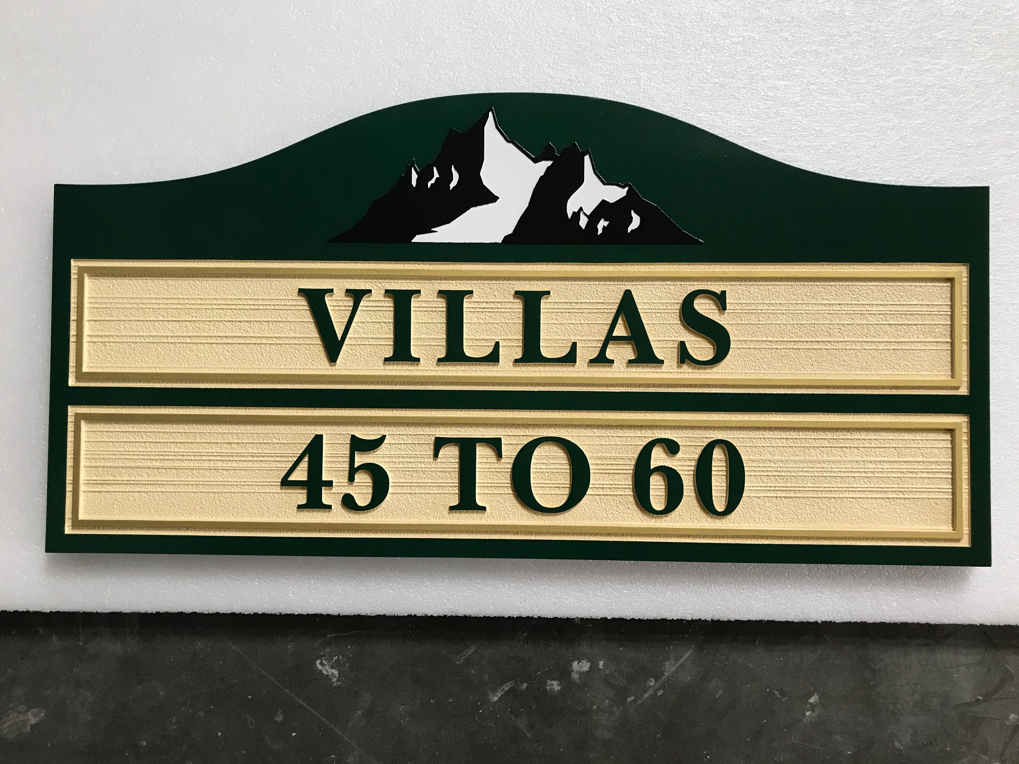 KA20851 - Carved Custom Unit Number Building Sign for an Apartment Complex