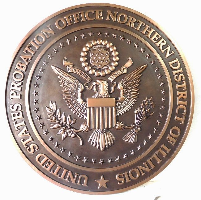 A10843 - 3-D Copper Wall Plaque for US Probation Office