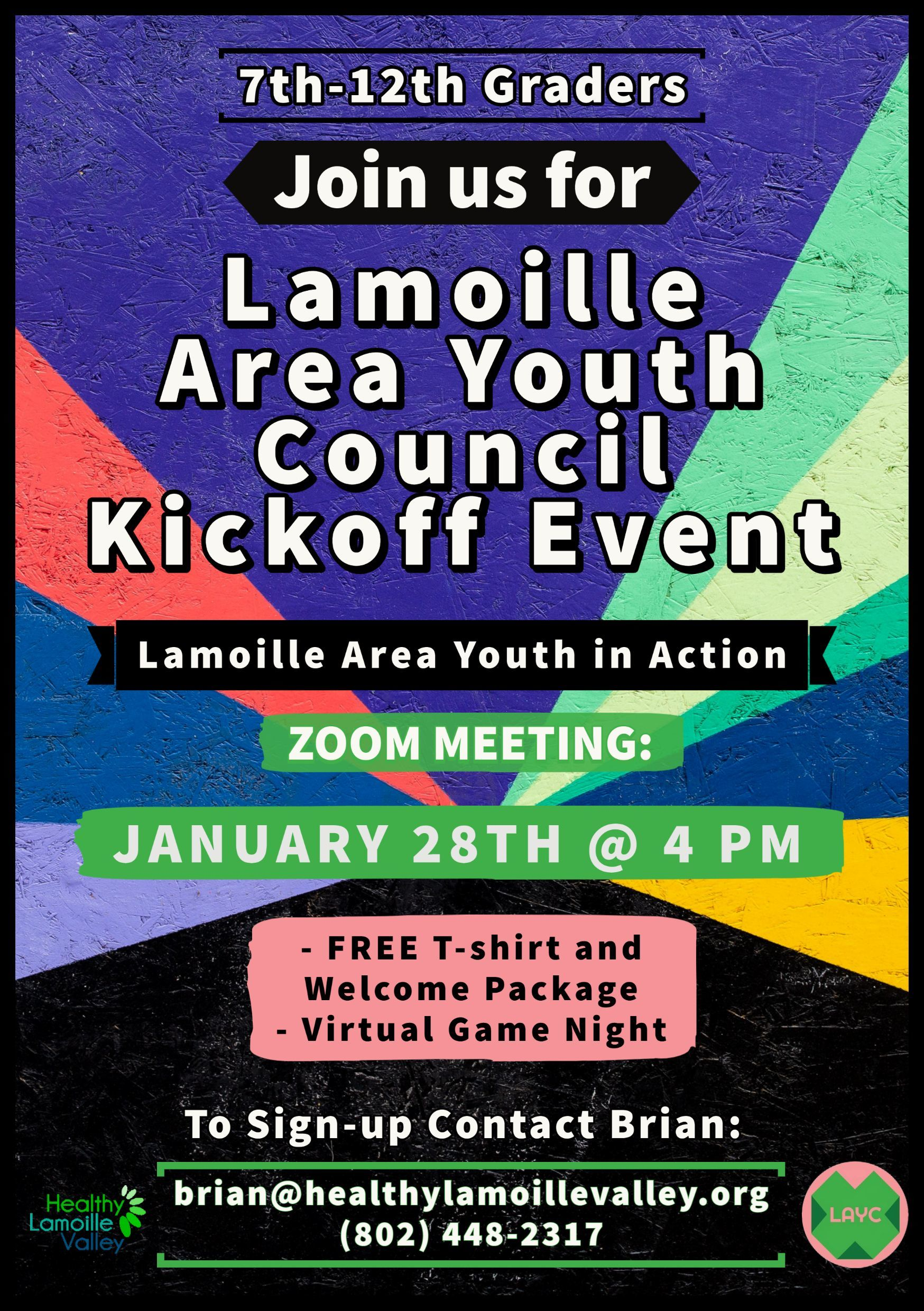 Lamoille Area Youth Council Kickoff Event