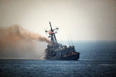 1987: Iraqi aircraft fired Exocet missiles at USS Stark.