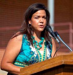 Maite Miller addresses audience