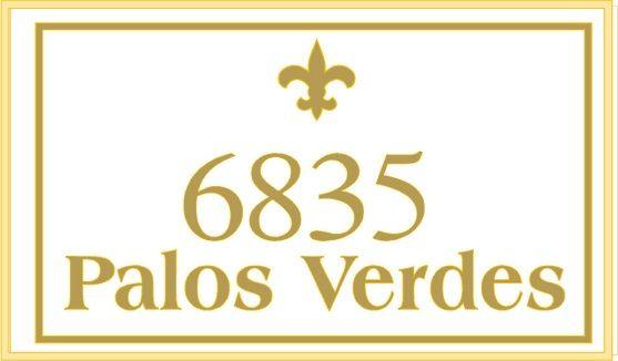 KA20867 - Design of HDU Address Street Number Sign with Carved Fleur-de-Lis