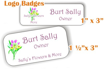 full color logo name badges/tags