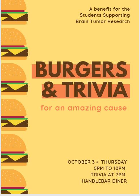 Burgers & Trivia Fundraiser for SSBTR