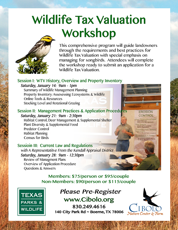 CNC:  Wildlife Tax Valuation Seminar (Part 3)
