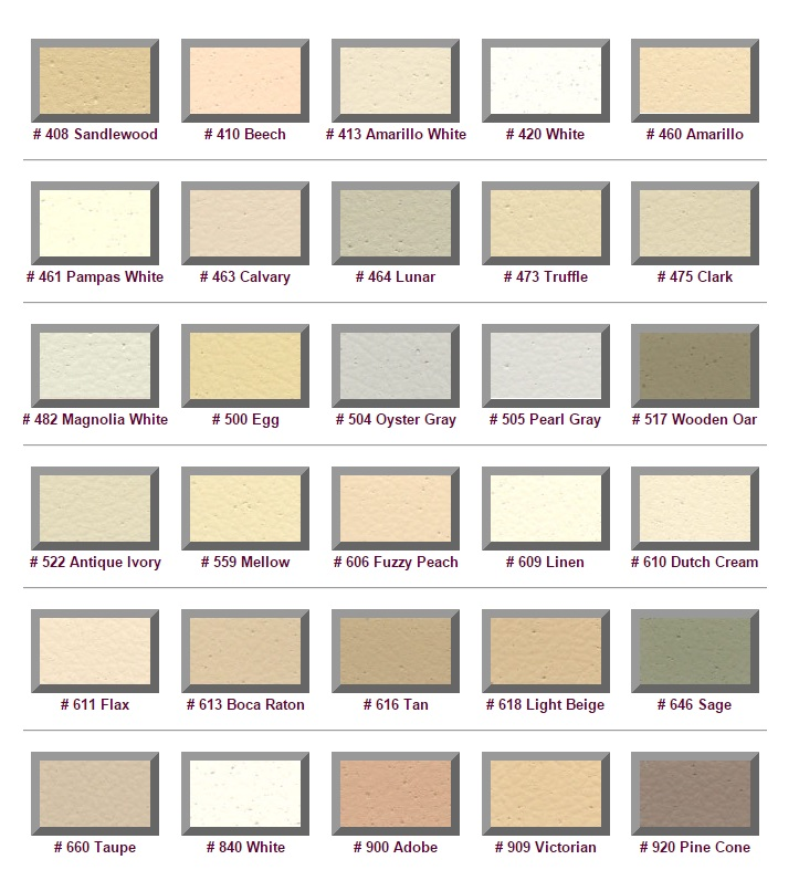M6940 -  Standard Color Selections for Exterior of  EPS Monument Signs (Group 2)