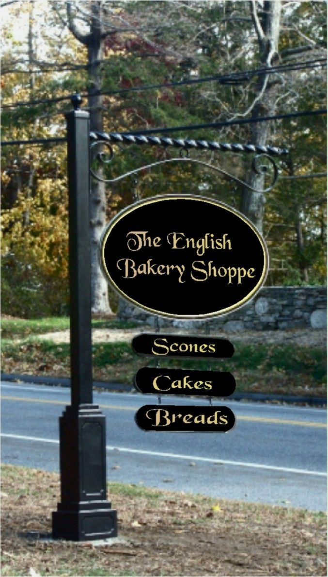 Q25610 - Carved and Gold-Leafed Bakery Sign with Riders, Hanging from Reverse Scroll Bracket