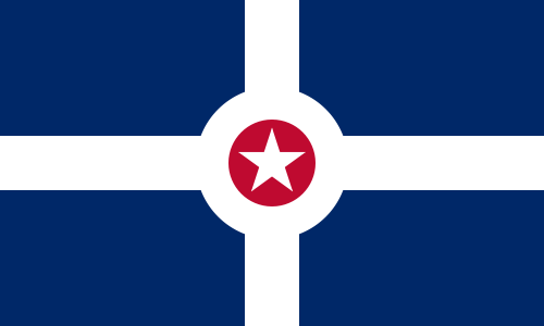 X33082 -  Flag of the City of Indianapolis, Indiana