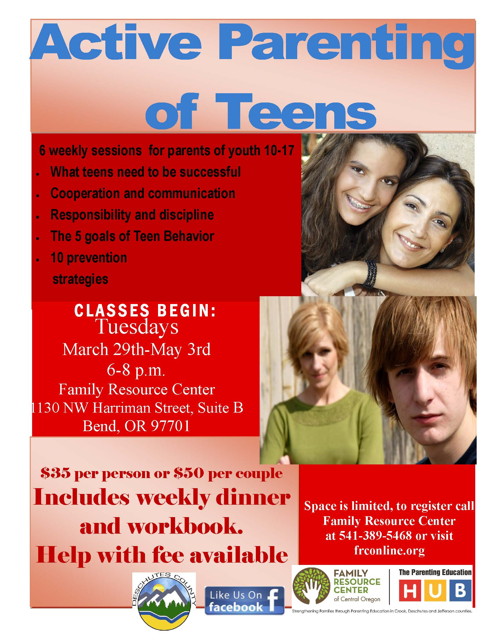 Active Parenting of Teens - Deschutes County
