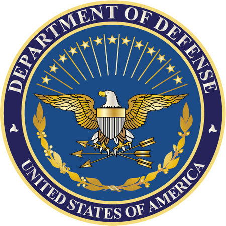 IP-1060 -  Carved Plaque of the Great Seal  of the US Department of Defense, Gold Gilded