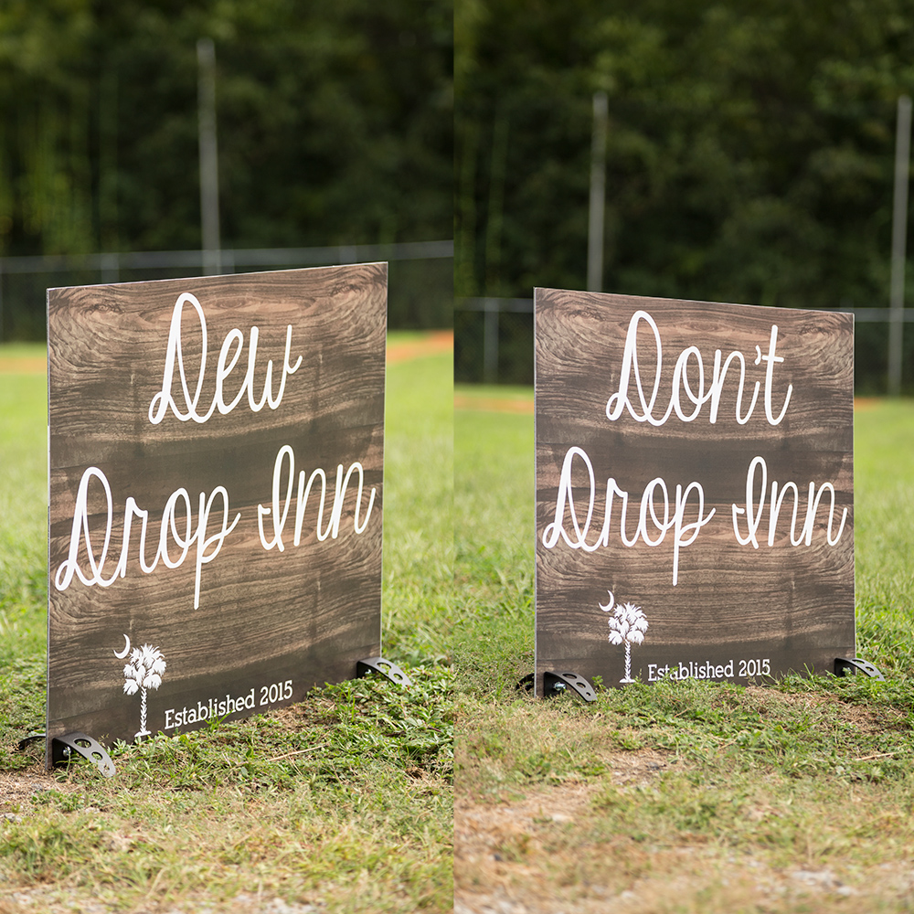 Outdoor Wedding Sign C Bond