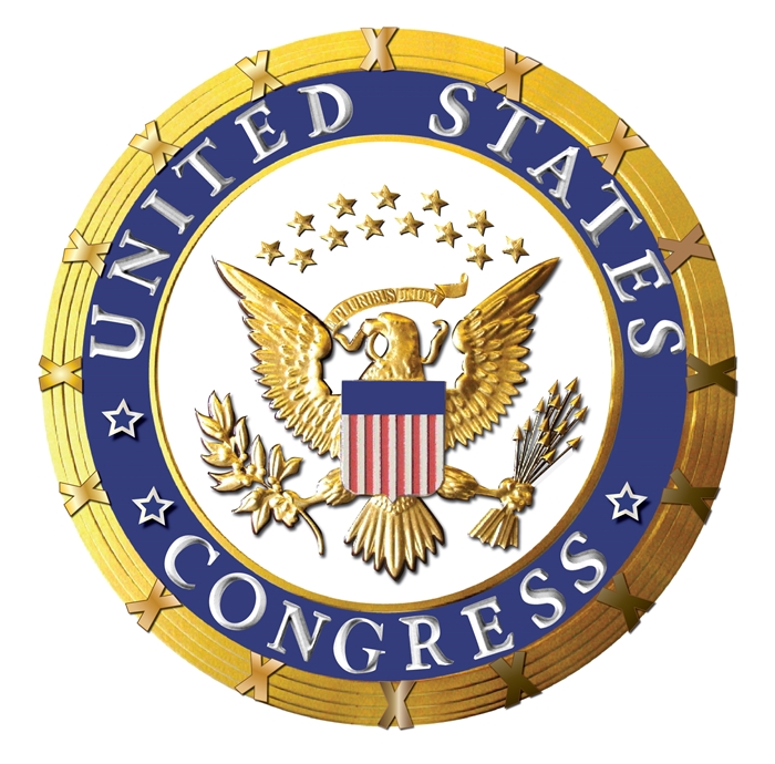 U30101 - Carved 3-D Wooden Wall Plaque for US Congress, with 24K Gold-Leaf Gilding