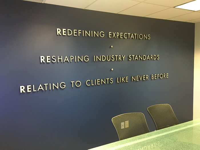 Office Lobby Signs Wall Logo Signs Buena Park Orange
