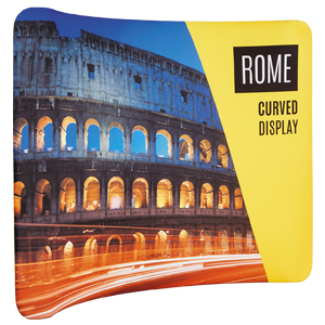 Rome 'Stretch' Fabric Curved Display