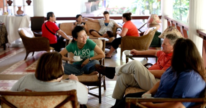Cross-cultural workers and missionaries network at NCF Counseling & Member Care Seminars.